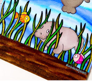 Oh Manatee! & Zig Coloring - Jeannie Lieu (InsideoutJeans)