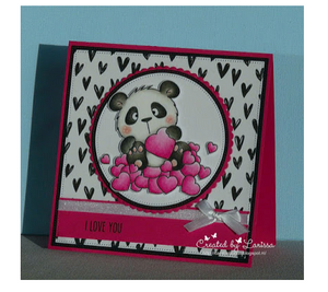 Stamp of the month - Panda in love