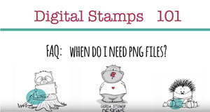 How to use png files for Digital Stamps?