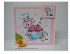Pig and Mouse Freebie Digital Stamp
