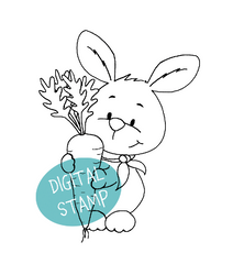 Easter Bunny Cardmaking