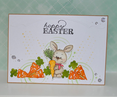 bunny easter cardmaking