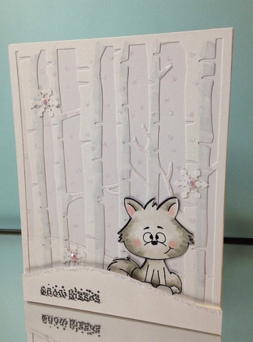 Snow Fox Cardmaking