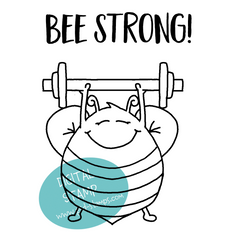 Cute Bee Stamp - Cardmaking - Bee Strong - Encouraging Card