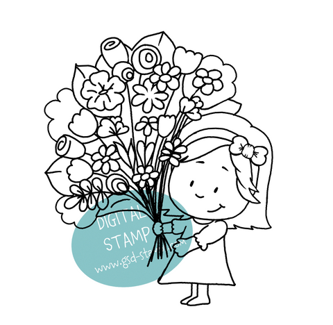 Flowers for you - Digital Stamp