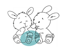 Bunny Friends - Digital Stamp