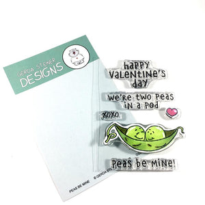 Peas be Mine 3x4 Clear Stamp Set - Clearstamps - Clear Stamps - Cardmaking- Ideas- papercrafting- handmade - cards-  Papercrafts - Gerda Steiner Designs