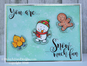 Snow Angel 4x6 Clear Stamp Set - Clearstamps - Clear Stamps - Cardmaking- Ideas- papercrafting- handmade - cards-  Papercrafts - Gerda Steiner Designs