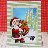 Puppy Kisses for Santa 3x4 Clear Stamp Gerda Steiner Designs gsd-stamps.com