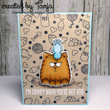 All Cats 4x6 Clear Stamp Set cat bird gerda steiner designs gsd-stamps.com pausitive purr-thday
