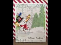 Happy Snowman 3x4 Clear Stamp Set - Clearstamps - Clear Stamps - Cardmaking- Ideas- papercrafting- handmade - cards-  Papercrafts - Gerda Steiner Designs