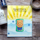 Gerda Steiner Designs gsd-stamps Pool Piggies 4x6 Clear Stamp Set