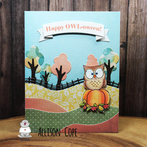 Pumpkin Owl Digital Stamp