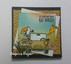 Go Wild! 4x6 Clear Stamp Set - Clearstamps - Clear Stamps - Cardmaking- Ideas- papercrafting- handmade - cards-  Papercrafts - Gerda Steiner Designs