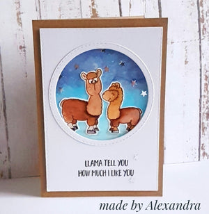 Llama Tell You 4x6 Clear Stamp Set - Clearstamps - Clear Stamps - Cardmaking- Ideas- papercrafting- handmade - cards-  Papercrafts - Gerda Steiner Designs