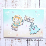 Blast Off 4x6 Clear Stamp Set