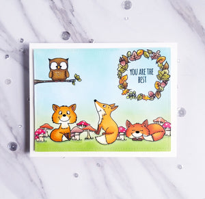 Foxes 4x6 Clear Stamp Set - Clearstamps - Clear Stamps - Cardmaking- Ideas- papercrafting- handmade - cards-  Papercrafts - Gerda Steiner Designs