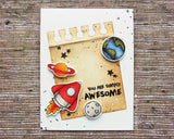 Blast Off Clear Set Stamp Gerda Steiner Designs gsd-stamps