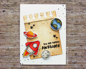 Alien Invasion 4x6 Clear Stamp Set - Clearstamps - Clear Stamps - Cardmaking- Ideas- papercrafting- handmade - cards-  Papercrafts - Gerda Steiner Designs