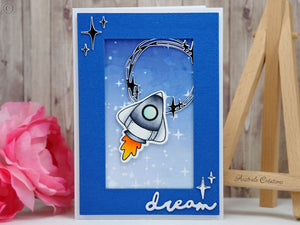 Blast Off 4x6 Clear Stamp Set - Clearstamps - Clear Stamps - Cardmaking- Ideas- papercrafting- handmade - cards-  Papercrafts - Gerda Steiner Designs