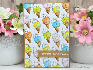 I Scream for Ice Cream - Digital Stamp - Clearstamps - Clear Stamps - Cardmaking- Ideas- papercrafting- handmade - cards-  Papercrafts - Gerda Steiner Designs