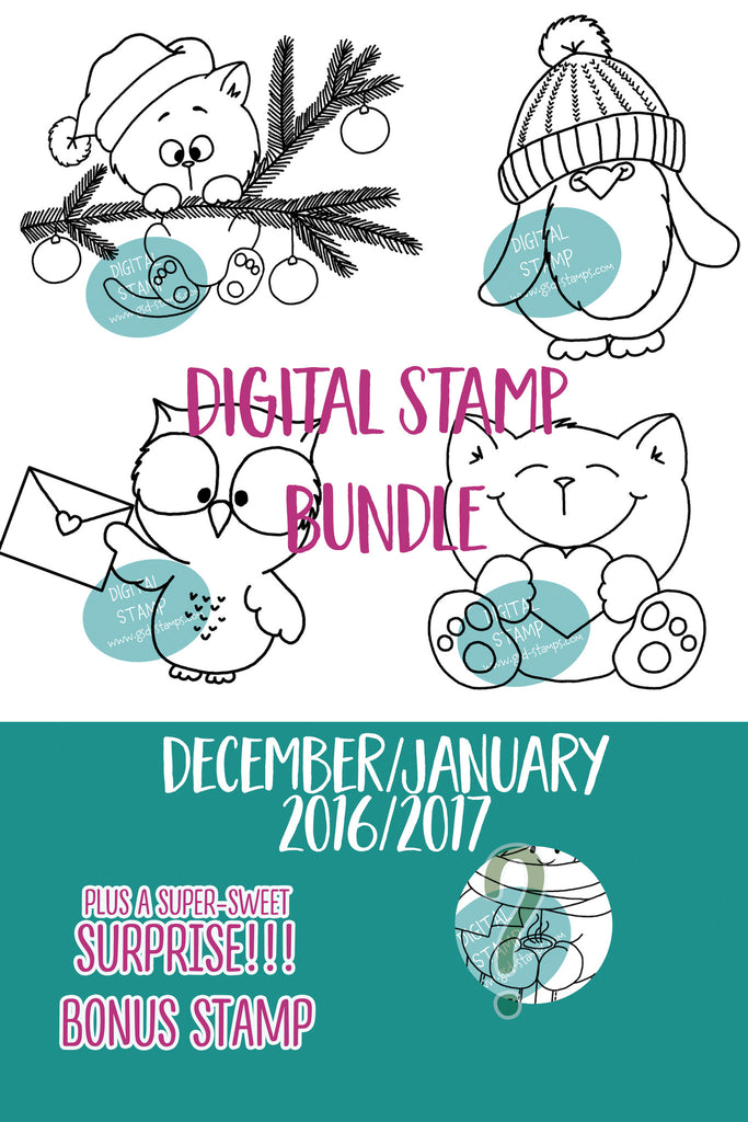 December/January Digital Stamp Bundle