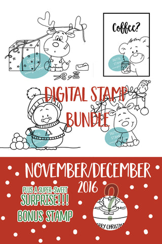 November-December- Digital Stamp Bundle