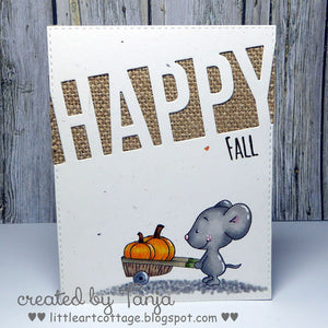 Fall Mice 4x6 Clear Stamp Set - Clearstamps - Clear Stamps - Cardmaking- Ideas- papercrafting- handmade - cards-  Papercrafts - Gerda Steiner Designs