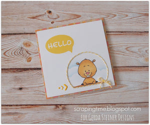 Gopher it! 3x4 Clear Stamp Set - Clearstamps - Clear Stamps - Cardmaking- Ideas- papercrafting- handmade - cards-  Papercrafts - Gerda Steiner Designs