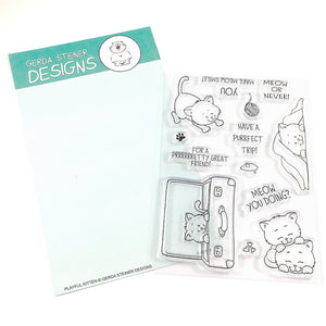 Playful Kitten 4x6 Clear Stamp Set
