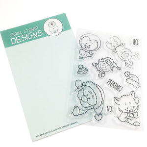 Peeking Friends 4x6 Clear Stamp Set