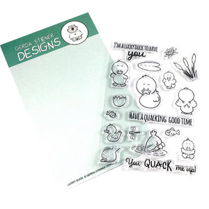 Lucky Duck 4x6 Clear Stamp Set - Clearstamps - Clear Stamps - Cardmaking- Ideas- papercrafting- handmade - cards-  Papercrafts - Gerda Steiner Designs