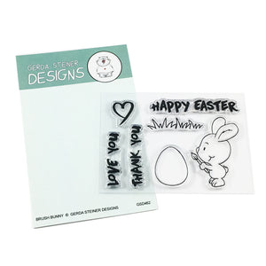 Brush Bunny 3x4 Clear Stamp Set - Clearstamps - Clear Stamps - Cardmaking- Ideas- papercrafting- handmade - cards-  Papercrafts - Gerda Steiner Designs