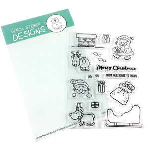 Up On the Housetop 4x6 Clear Stamp Set - Clearstamps - Clear Stamps - Cardmaking- Ideas- papercrafting- handmade - cards-  Papercrafts - Gerda Steiner Designs