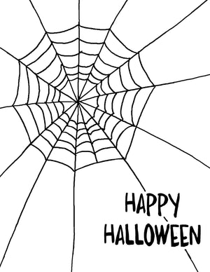 Spiderweb Digital Stamp