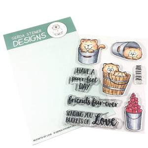 Buckets of Love 4x6 Clear Stamp Set - Clearstamps - Clear Stamps - Cardmaking- Ideas- papercrafting- handmade - cards-  Papercrafts - Gerda Steiner Designs