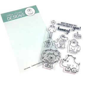 Party Animals 4x6 Clear Stamp Set