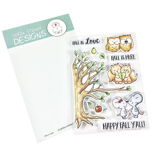 Fall in Love 4x6 Clear Stamp Set - Clearstamps - Clear Stamps - Cardmaking- Ideas- papercrafting- handmade - cards-  Papercrafts - Gerda Steiner Designs