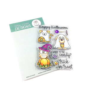 Where is the Candy? 4x6 Clear Stamp Set - Clearstamps - Clear Stamps - Cardmaking- Ideas- papercrafting- handmade - cards-  Papercrafts - Gerda Steiner Designs