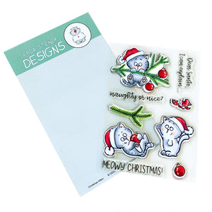 Christmas Kitten 4x6 Clear Stamp Set