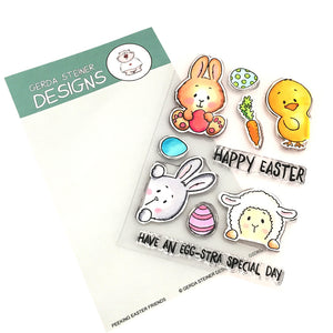 Peeking Easter Friends 4x6 Clear Stamp Set