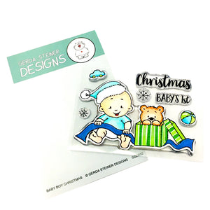 Baby Boy Christmas 3x4 Clear Stamp Set