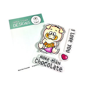More Than Chocolate 3x4 Clear Stamp Set - Clearstamps - Clear Stamps - Cardmaking- Ideas- papercrafting- handmade - cards-  Papercrafts - Gerda Steiner Designs