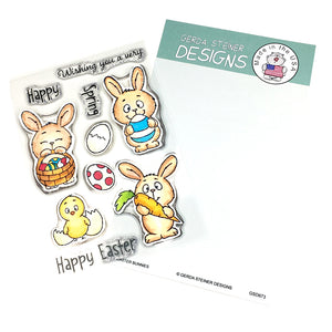 Easter Bunnies 4x6 Clear Stamp Set - Clearstamps - Clear Stamps - Cardmaking- Ideas- papercrafting- handmade - cards-  Papercrafts - Gerda Steiner Designs
