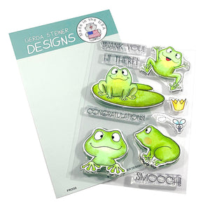 Frogs 4x6 Clear Stamp Set (ENGLISH VERSION) - Clearstamps - Clear Stamps - Cardmaking- Ideas- papercrafting- handmade - cards-  Papercrafts - Gerda Steiner Designs