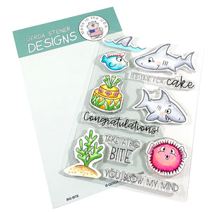 Big Bite 4x6 Clear Stamp Set - Clearstamps - Clear Stamps - Cardmaking- Ideas- papercrafting- handmade - cards-  Papercrafts - Gerda Steiner Designs