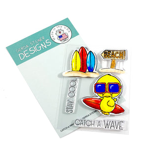 Catch a Wave 3x4 Clear Stamp Set - Clearstamps - Clear Stamps - Cardmaking- Ideas- papercrafting- handmade - cards-  Papercrafts - Gerda Steiner Designs