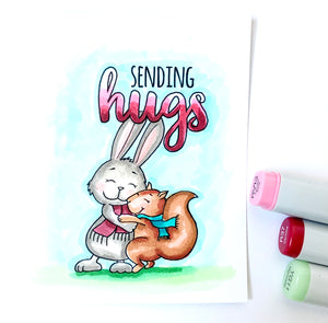 Sending Hugs - Digital Stamp - Clearstamps - Clear Stamps - Cardmaking- Ideas- papercrafting- handmade - cards-  Papercrafts - Gerda Steiner Designs