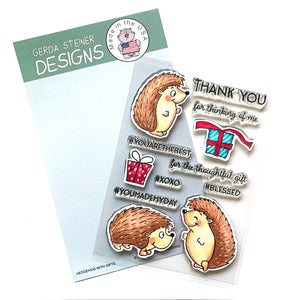 Hedgehog with Gifts - 4x6 Clear Stamp Set