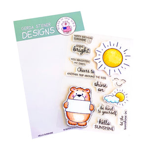 Hello Sunshine 4x6 Clear Stamp Set